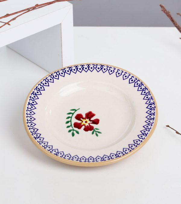 ACS Nicholas Mosse Old Rose Small Round Plate 2 DC