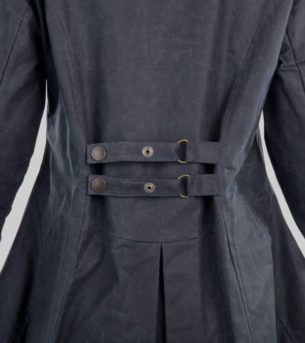 ACS Oxford Blue Wax Jacket Navy Close