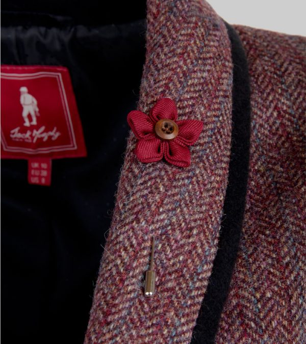 ACS Red Tweed Blazer close