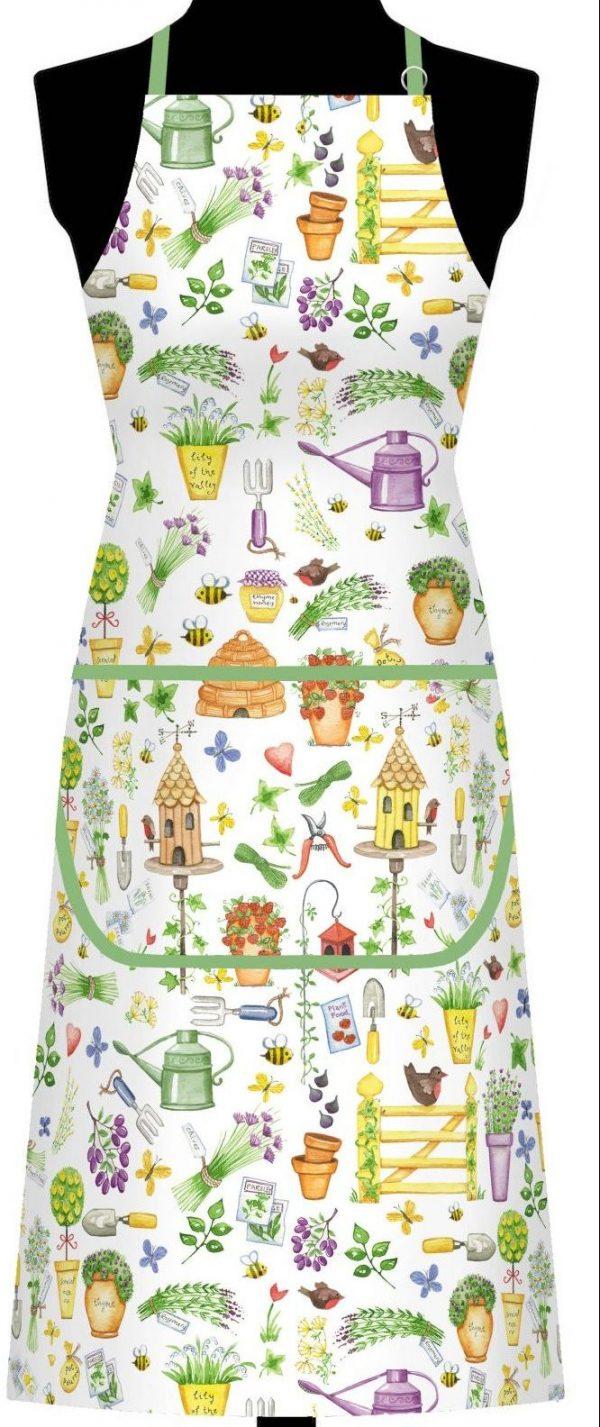 Herb Garden Cotton Apron 640CA 1 scaled e1603215070796