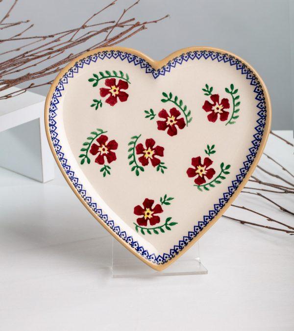 ACS Nicholas Mosse Old Rose Heart Plate 2 WEB